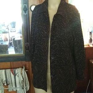 Dress Work jacket, animal print